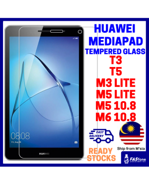(Ready Stocks) HD Clear Huawei Mediapad T3 T5 M3 LITE M5 LITE M5 10.8 M6 10.8 Tempered Glass Screen Protector