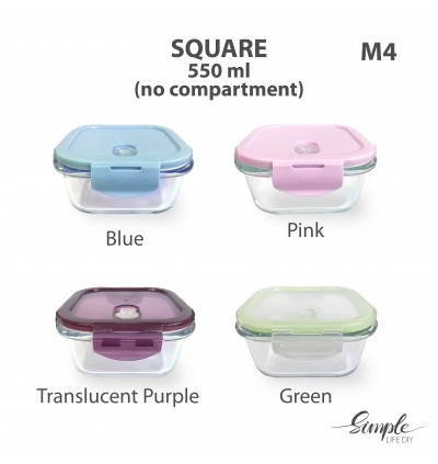 Lunch Box Glass Container Heat Resistant Glass Container Microwave