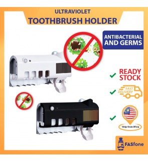 Smart UV Sterilizer Wall Mounted Toothbrush Holder Automatic Toothpaste Squeezer