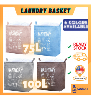 (Ready stocks in Malaysia) 75L 100L Laundry Basket Large Capacity Clothes Laudry Basket