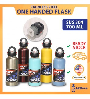 304 Stainless Steel Outdoor Vacuum Flask Sport Bottle Insulated Open One Handed 700ML