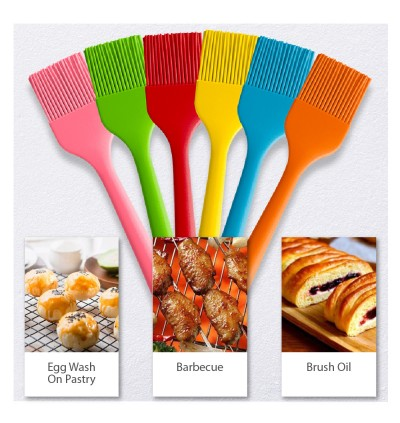 Brush Kitchen Tools Bakeware Silicone One Piece Barbeque Sauce Oil Brush 21CM 26CM